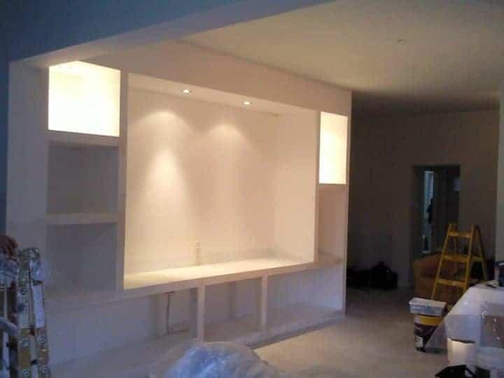 מזנון גבס בסלון