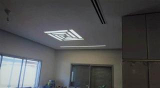תקרת גבס למזגן בשילוב תאורה מובנית