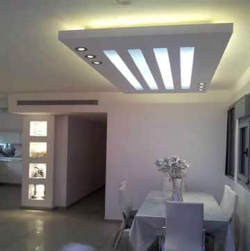 עבודות גבס שונות - תקרה עם תאורה